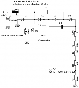 High voltage generation from 3 3-5V – MADEXP by Papadopol Lucian Ioan